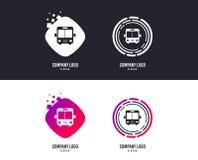 Het pictogram van het busteken Openbaar vervoersymbool Vector royalty-vrije illustratie