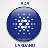 Het pictogram van Cardanocryptocurrency blockchain Virtueel elektronisch, Internet-geld of cryptocoin symbool, embleem stock illustratie
