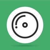 Het pictogram van CD Muziek en correct ontwerp Grafische vector Royalty-vrije Stock Afbeelding