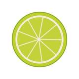 het pictogram van citroencitrusvruchten Royalty-vrije Stock Foto's