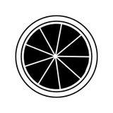 het pictogram van citroencitrusvruchten Stock Afbeeldingen