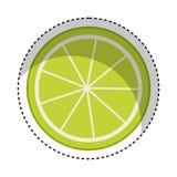 het pictogram van citroencitrusvruchten Stock Afbeelding