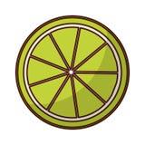 het pictogram van citroencitrusvruchten Stock Fotografie