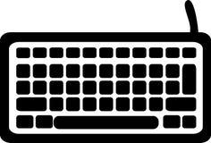 Het pictogram van het computertoetsenbord stock illustratie