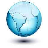 Het pictogram van de aarde Stock Afbeeldingen