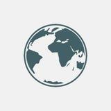Het pictogram van de aarde stock afbeelding