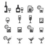 Het pictogram van de alcoholdrank Stock Foto