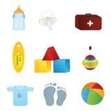 Het pictogram van de baby Stock Afbeelding