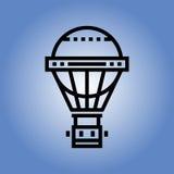 Het pictogram van de ballonreis Vlak Ontwerp Royalty-vrije Stock Foto's