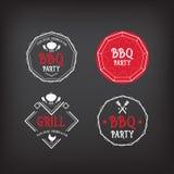 Het pictogram van de barbecuepartij BBQ menuontwerp Royalty-vrije Stock Foto