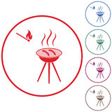 Het pictogram van de barbecueworst Royalty-vrije Stock Foto