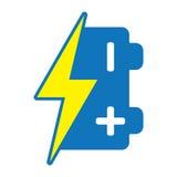 Het pictogram van de batterij Stock Foto