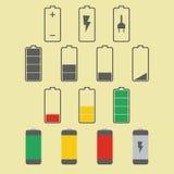 Het pictogram van de batterij royalty-vrije illustratie