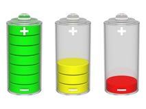 Het pictogram van de batterij. Geïsoleerdd op de witte achtergrond Royalty-vrije Stock Afbeeldingen
