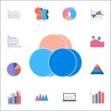 Het pictogram van de bellengrafiek Gedetailleerde reeks Grafieken & Diagramms-pictogrammen Grafisch het ontwerpteken van de premi vector illustratie