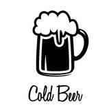 Het pictogram van de biermok Royalty-vrije Stock Fotografie