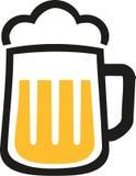 Het pictogram van de biermok Stock Afbeelding