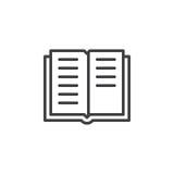 Het pictogram van de boeklijn, overzichts vectorteken vector illustratie