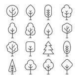 Het pictogram van de boomlijn vector illustratie