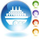 Het Pictogram van de boot Royalty-vrije Stock Fotografie