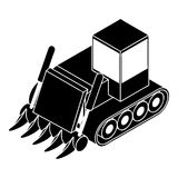 Het pictogram van de bouwbulldozer, eenvoudige stijl Stock Afbeelding