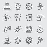 Het pictogram van de casinolijn royalty-vrije illustratie