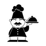 Het pictogram van de chef-kok Stock Afbeelding
