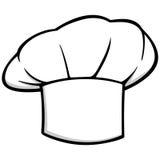 Het pictogram van de chef-kokhoed royalty-vrije illustratie