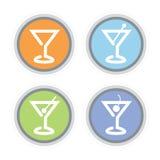 Het Pictogram van de Cocktail van martini Stock Afbeelding
