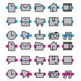 Het pictogram van de computer Stock Afbeeldingen