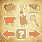 Het pictogram van de computer dat voor Webontwerp wordt geplaatst Stock Afbeelding