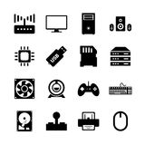Het pictogram van de computerhardware Stock Foto's