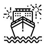 Het Pictogram van de cruiselijn royalty-vrije illustratie