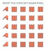 Het pictogram van de daktegel Royalty-vrije Stock Afbeelding