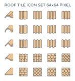 Het pictogram van de daktegel Stock Fotografie