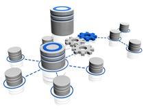 Het pictogram van de database Stock Foto's
