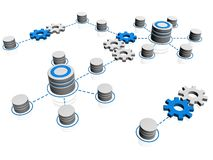 Het pictogram van de database Royalty-vrije Stock Afbeeldingen