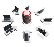 Het pictogram van de database Stock Afbeelding