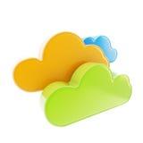 Het pictogram van de de gegevensverwerkingstechnologie van de wolk Royalty-vrije Stock Foto