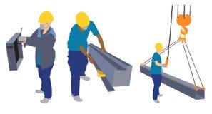 Het pictogram van de de industriearbeider Stock Fotografie