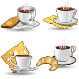 het pictogram van de de kopkoffie van de theetijd Royalty-vrije Stock Foto's