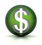 Het pictogram van de dollar Stock Afbeelding