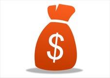 Het pictogram van de dollar Stock Foto