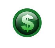 Het pictogram van de dollar royalty-vrije illustratie