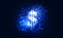 Het pictogram van de dollarinterface Stock Afbeelding