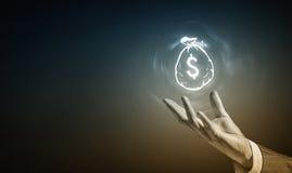Het pictogram van de dollarmunt Royalty-vrije Stock Afbeelding
