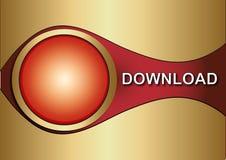Het pictogram van de download Stock Fotografie