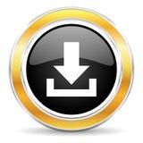 Het pictogram van de download Stock Afbeeldingen