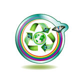 Het pictogram van de ecologie Stock Afbeeldingen