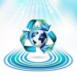 Het pictogram van de ecologie Stock Fotografie